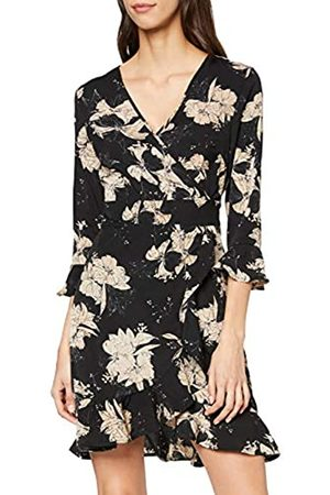 Mela Women's Floral Wrap Front Skater Dress Casual