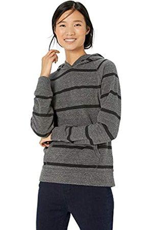 Goodthreads Modal Fleece Popover Sweatshirt Spacedye Large Open Stripe