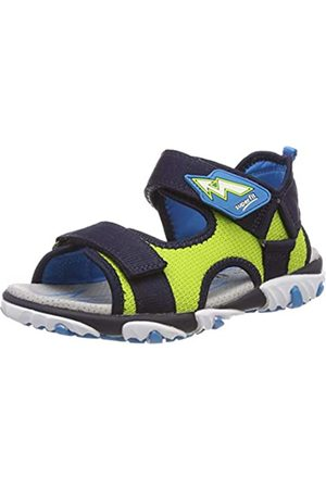 Superfit Boys' Mike 2 Ankle Strap Sandals, (Blau/Grün 80)