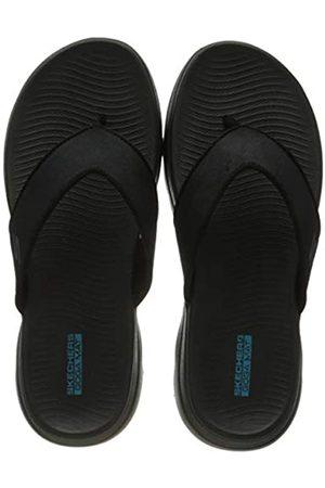 Skechers Men's GO Walk 5 Flip Flops, ( Synthetic/Gray Trim Bkgy)