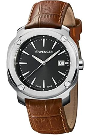 Wenger Men's Analogue Quartz Watch with Leather Strap 01.1141.111
