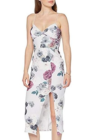 New Look Women's Amelia Floral Side Split Midi Dress