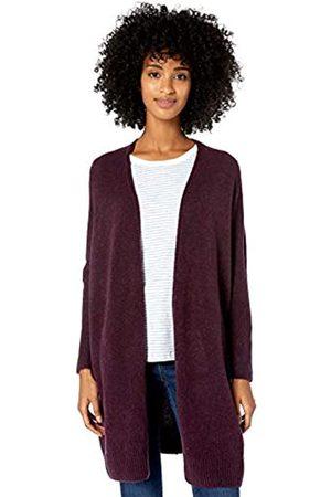Goodthreads Mid-gauge Stretch Cocoon Sweater Wine Heather