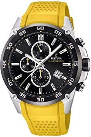 Festina The Originals collection' Men's Quartz Watch with Black Dial Chronograph Display and Rubber strap F20330/3
