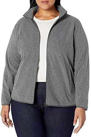Amazon Essentials Plus Size Full-zip Polar Fleece Jacket Charcoal Heather