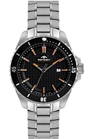 Rotary Mens Analogue Classic Quartz Watch with Stainless Steel Strap AGB00293/04