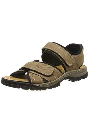 Rieker Men's 25051-20 Closed Toe Sandals, (Camel/Schwarz 20)