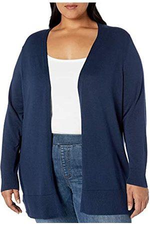 Amazon Plus Size Lightweight Open-front Cardigan Sweater Navy