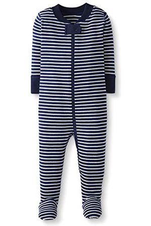 Moon and Back by Hanna Andersson Moon and Back One Piece Footed Pajama Sleepers, Navy