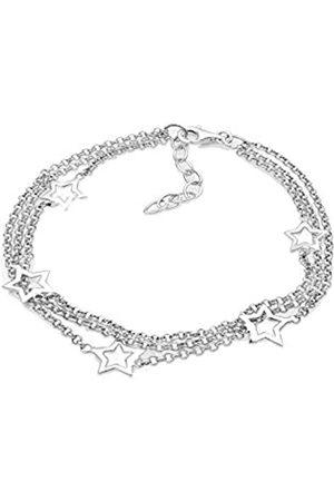 Elli Women's 925 Sterling Three Lobed Star Astrotrend Sky Blogger Bracelet of Length 18 cm