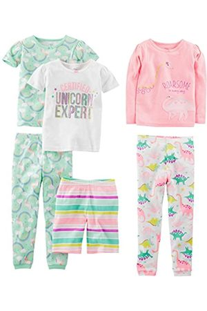 Simple Joys by Carters 3-Pack Snug Fit Footless Cotton Pajamas Beb/é-Ni/ñas