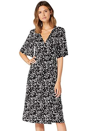 TRUTH & FABLE Amazon Brand - Women's Midi Jersey A-Line Dress, 8