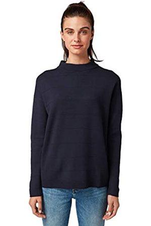TOM TAILOR Women's Gestreifter Rollkragen Sweater