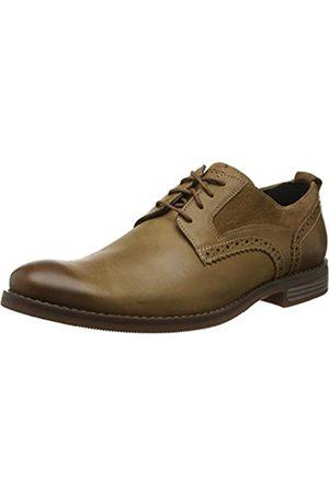 Rockport Men's Wynstin Plain Toe Shoe Oxfords, (Tobacco 001)