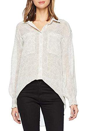 Glamorous Women's Polka DOT Shirt Regular Fit Polka Dot Button Front Long Sleeve Shirt