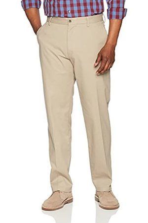 Amazon Classic-Fit Wrinkle-Resistant Flat-Front Chino Pant (Khaki)