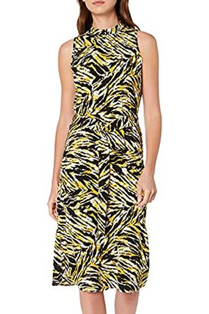Dorothy Perkins Women's Tiger High Neck Woven Midi Party Dress, ( 210)