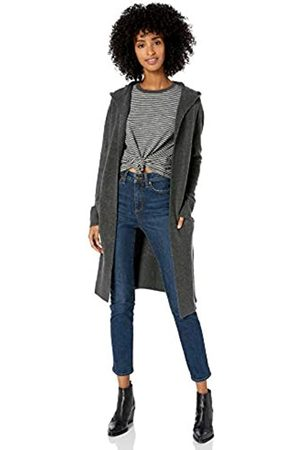 Goodthreads Mid-gauge Stretch Hooded No-closure Sweater Charcoal Heather