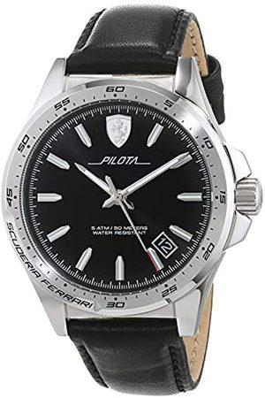 Scuderia Ferrari Mens Analogue Classic Quartz Watch with Leather Strap 0830523
