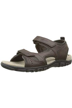 Geox Men's Strada A Platform Sandals, (Dk Coffee)