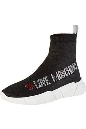 Love Moschino Women's SCA.nod.running35 Calza Lurex Gymnastics Shoes, ( Soft 000)