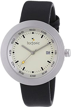 Tectonic Men's Quartz Watch with Dial Analogue Display and Leather Strap 41-6107-14