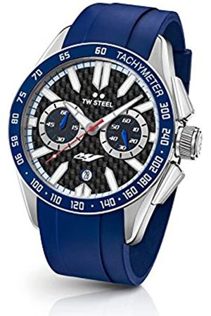 TW steel Yamaha Factory Racing Unisex Quartz Watch with Dial Chronograph Display and Rubber Strap GS3