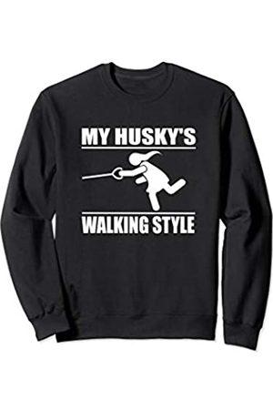 ToonTyphoon Humorous Siberian Husky ( Women ) Walking Style Sweatshirt