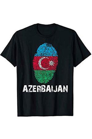 Vishtea AZERBAIJAN Finger Print Flag Tshirt I Love Travel Tee T-Shirt