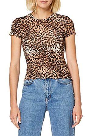 warehouse Women's Leopard Lettuce Edge T-Shirt