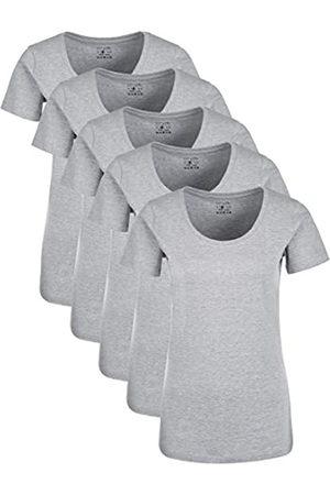 Berydale Für Sport & Freizeit, Rundhalsausschnitt T-Shirt, (Grad Grau Melange), Large