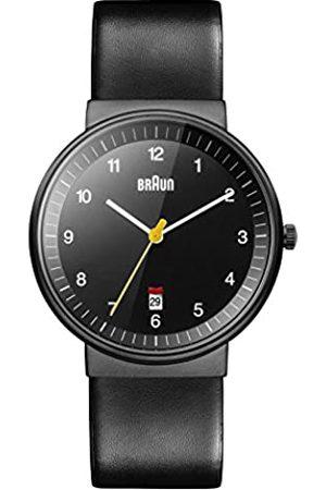 von Braun Men's Quartz Watch with Dial Analogue Display and Leather Strap BN0032BKBKG