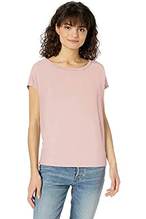 Daily Ritual Women's Cozy Knit Dolman Short-Sleeve Tie-Back Shirt