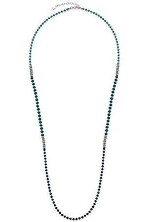 Leonardo JEWELS BY LEONARDO women necklace Corbara stainless steel/silver colored glass blue 90 cm carabiner 016381