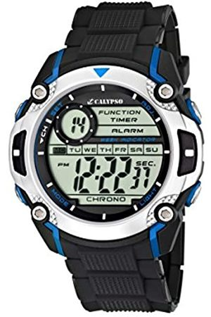 Calypso Men's Digital Watch with LCD Dial Digital Display and Plastic Strap K5577/2