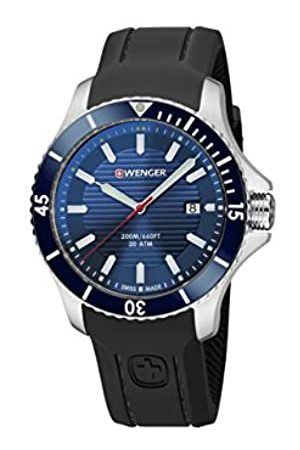 Wenger Unisex Analogue Quartz Watch with Silicone Strap 01.0641.119