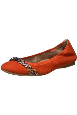 Tamaris Women's 1-1-22104-24 Leder Closed Toe Ballet Flats, (Flame 572)