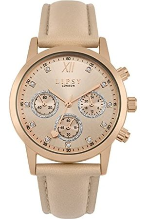 Lipsy Womens Analogue Classic Quartz Watch with PU Strap SLP008PRG