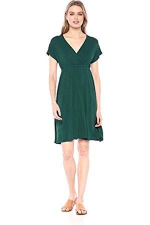 Amazon Essentials Solid Surplice Dress Casual