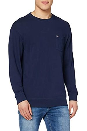 Tommy Jeans Men's TJM Washed Graphic Pocket TEE Long Sleeve Top