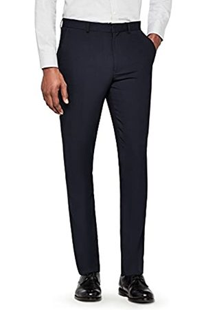 find. Amazon Brand - Men's Regular Fit Textured Formal Trousers
