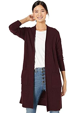 Goodthreads Wool Blend Honeycomb Longline Cardigan Sweater Dark Wine