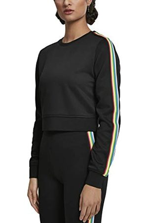 Urban classics Women's Ladies Multicolor Taped Sleeve Crewneck Jumper