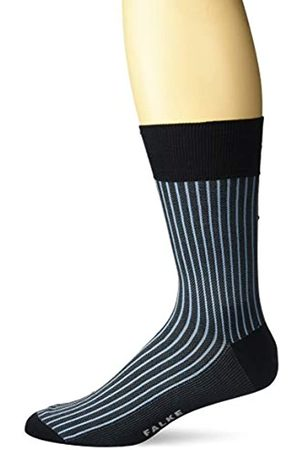 FALKE Men Oxford Stripe Socks - Cotton Blend, (Dark Navy 6375), UK 10-11 (Manufacturer size: 45-46)