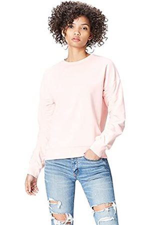 FIND Women's Sweatshirt with Ruched Long Sleeve and Crew Neck