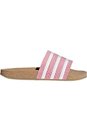 adidas Women's Adilette Cork W Beach & Pool Shoes, (Suppop/Ftwbla/Gum4 000)