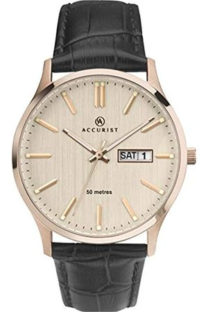 Accurist Mens Stainless Steel Japanese Quartz Classic Watch With Day-Date Window50m Water ResistantGenuine Leather StrapMineral Glass2 year guarantee.