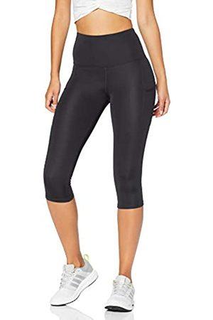 AURIQUE Amazon Brand - Women's High Waisted Capri Running Leggings, 10