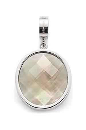 Leonardo JEWELS BY LEONARDO women pendant Alina Darlin's stainless steel/silver colored glass blue Darlin's Clip groß oval round circle 016404