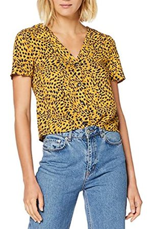Warehouse Women's Sable Animal Button Front Blouse